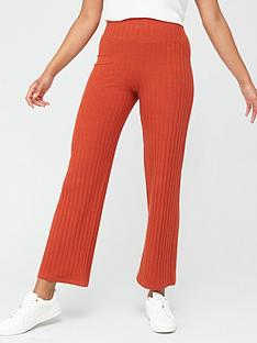 v-by-very-ribbed-wide-leg-trousers-rust