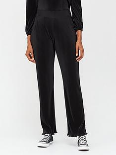 v-by-very-plisse-wide-leg-co-ord-trousers-black