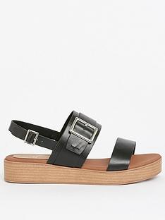 evans-extra-wide-fitnbspbuckle-strap-flatform-sandals-black