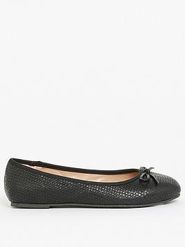 evans-extra-wide-fitnbspweave-ballerina-pumps-black