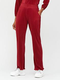 v-by-very-plisse-wide-leg-co-ord-trousers-wine