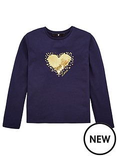 v-by-very-girls-sequin-heart-long-sleeve-top-navy
