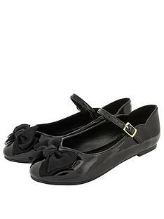 monsoon-girls-emery-patent-bow-ballerina-black