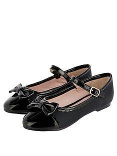 monsoon-girls-delilah-scallop-toe-cap-ballerina-black