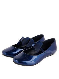 monsoon-girls-aubree-patent-bow-ballerina-navy