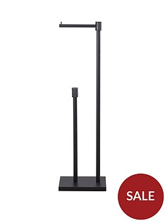 lloyd-pascal-sparkle-freestanding-toilet-roll-holder-and-store-black