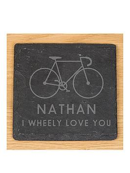 personalised-wheely-love-you-slate-coaster