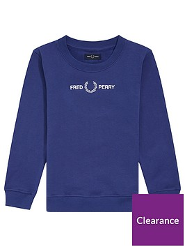 fred-perry-boys-graphic-crew-sweat-nautical-blue
