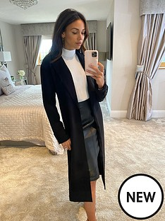 michelle-keegan-longline-blazer-coat-black