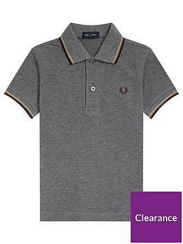 fred-perry-boys-twin-tipped-short-sleeve-polo-grey-marl