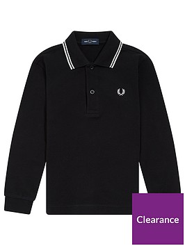 fred-perry-boys-long-sleeve-twin-tipped-polo-black