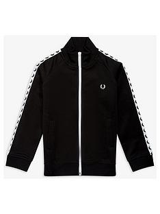 fred-perry-boys-tape-track-jacket-black