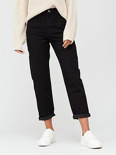 v-by-very-high-waist-mom-jean-black