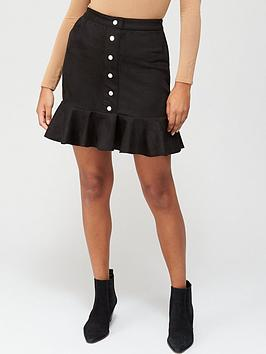v-by-very-suedette-button-through-skirt-black