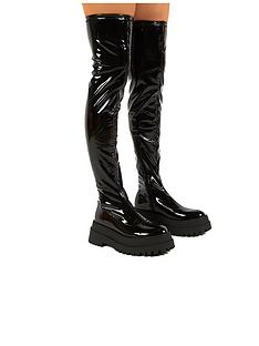 public-desire-disclosure-over-the-knee-boot-black