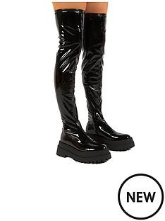 public-desire-disclosure-over-the-knee-boot-black