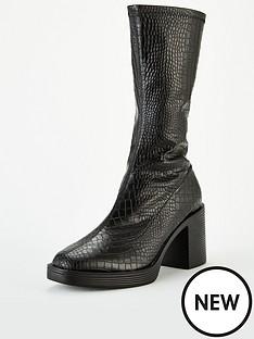 public-desire-generate-sock-boots-black