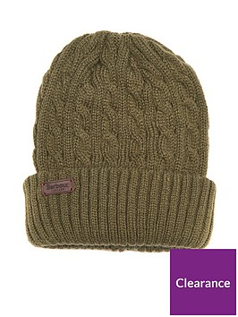 barbour-balfron-cable-knit-beanie-olive