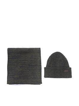 barbour-crimdon-beanie-and-scarf-gift-set-olive