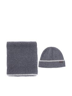barbour-chromer-beanie-and-scarf-gift-set-grey