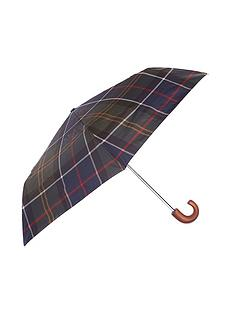 barbour-tartan-print-umbrella-green