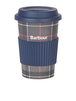 barbour-tartan-print-travel-mug-green