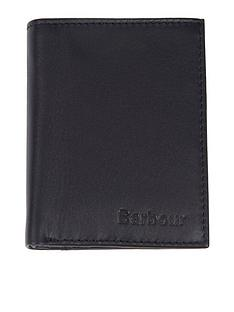 barbour-small-leather-card-holder-with-zip-black