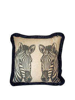 Product photograph showing Gallery Zebra Cushion