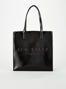 ted-baker-crinkle-patent-embossed-large-icon-black
