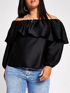 ri-plus-plus-bardot-top-black