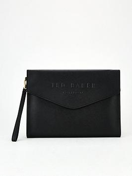 ted-baker-crosshatch-debossed-pouch-black