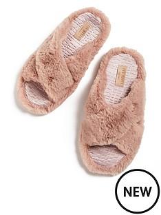ted-baker-faux-fur-strap-slipper-pinknbsp