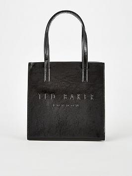 ted-baker-crinkle-patent-embossed-small-icon-black