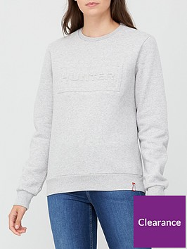 hunter-original-logo-sweatshirt-grey