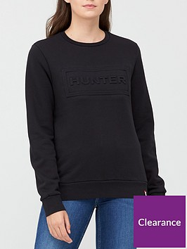 hunter-original-logo-sweatshirt-black