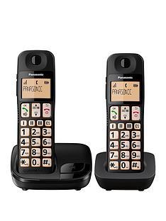 panasonic-panasonic-kx-tge112eb-big-button-twin-dect-cordless-telephone-with-nuisance-call-blocker-lcd-display-twin-handset-pack-black