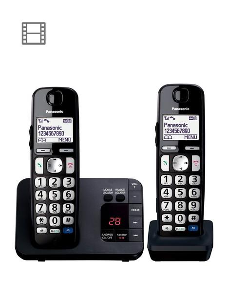 panasonic-panasonic-kx-tge722eb-big-button-dect-cordless-telephone-with-nuisance-call-blocker-digital-answering-machine-twin-handset-pack-black