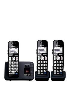 panasonic-panasonic-kx-tge723eb-big-button-dect-cordless-telephone-with-nuisance-call-blocker-digital-answering-machine-trio-handset-pack-black