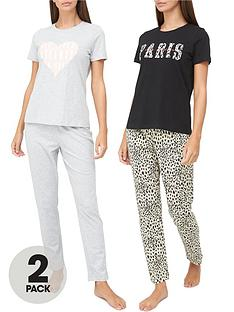v-by-very-paris-amp-heart-2-pack-pyjama-set-multi