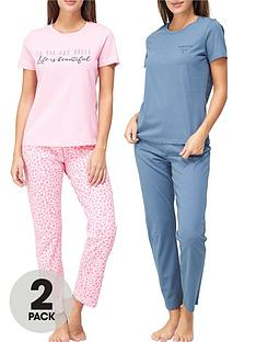 v-by-very-life-amp-chicnbsppyjama-set-2-pack-printnbsp