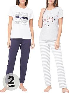 v-by-very-dream-amp-brunch-2-pack-pyjama-set-print