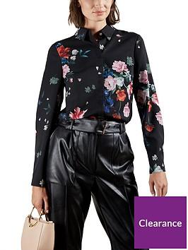 ted-baker-sandalwood-floral-print-shirt--nbsp-blacknbsp