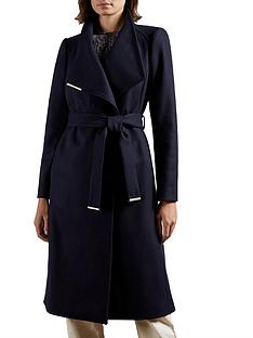 ted-baker-mid-length-wool-wrap-coat-navy