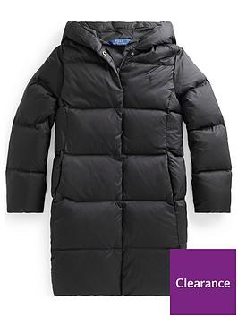 ralph-lauren-girls-longline-padded-hooded-coat-black