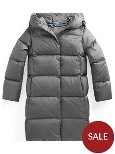 ralph-lauren-girls-longline-padded-hooded-coat-grey