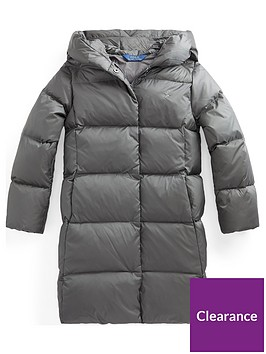 ralph-lauren-girls-longline-padded-hooded-coat-grey