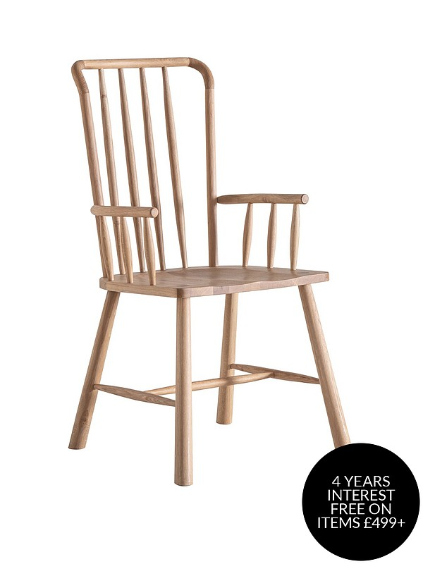 Hudson Living Wycombe Pair Of Solid Oak Carver Dining Chairs Littlewoods Com