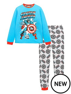 marvel-boysnbspcomic-long-sleeve-pyjamas-blue