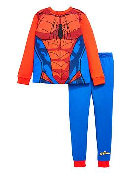 spiderman-boysnbspspidermannbspnovelty-long-sleeve-pyjamas-red