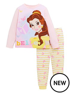 disney-princess-girlsnbspbelle-long-sleeve-pyjamas-pink